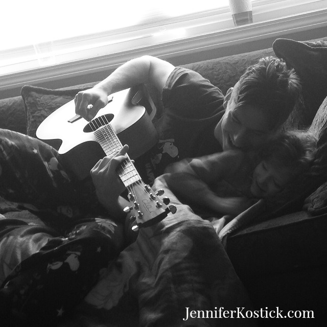 pauly and grace and guitar